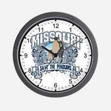Save the Penguins Missouri Wall Clock