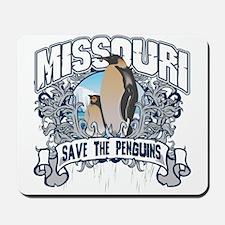 Save the Penguins Missouri Mousepad