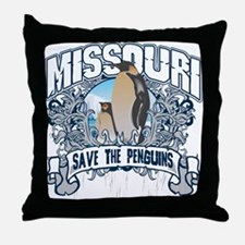 Save the Penguins Missouri Throw Pillow