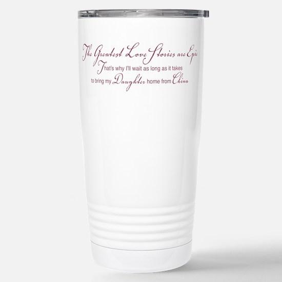 Greatest Love Story Stainless Steel Travel Mug