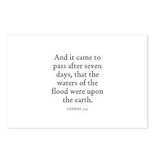 GENESIS  7:10 Postcards (Package of 8)