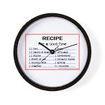 Hockey recipe. Wall Clock