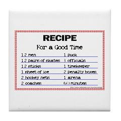 Hockey recipe. Tile Coaster