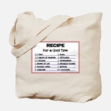 Hockey recipe. Tote Bag