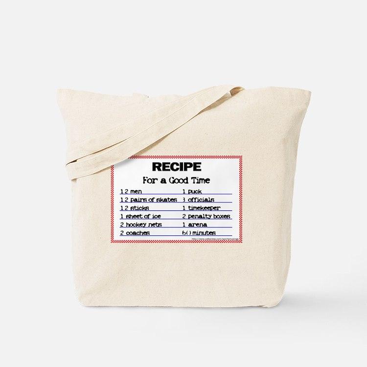 Hockey recipe. Tote Bag