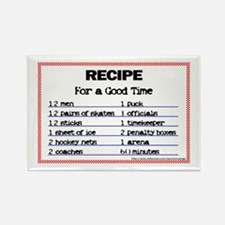 Hockey recipe. Rectangle Magnet