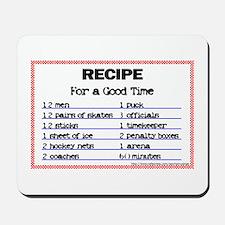 Hockey recipe. Mousepad