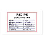 Hockey recipe. Rectangle Sticker