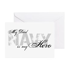 Dad is my Hero NAVY Greeting Cards (Pk of 10)