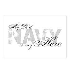 Dad is my Hero NAVY Postcards (Package of 8)