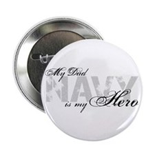 """Dad is my Hero NAVY 2.25"""" Button"""
