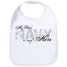 Dad is my Hero NAVY Bib