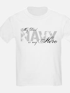 Dad is my Hero NAVY T-Shirt