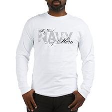 Dad is my Hero NAVY Long Sleeve T-Shirt