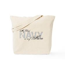 Dad is my Hero NAVY Tote Bag