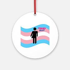 Transgender Round Ornament