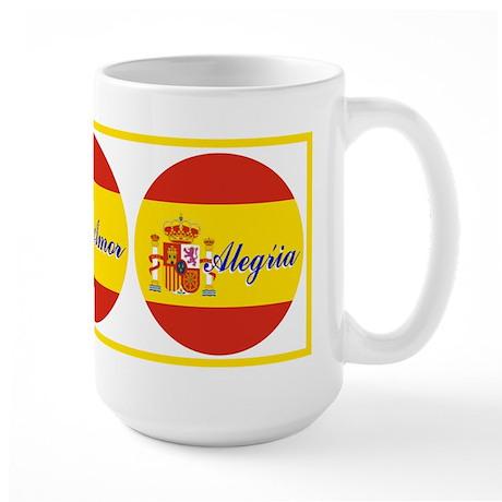 Spanish 3 Wishes Large Mug