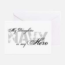 Daughter is my Hero NAVY Greeting Cards (Pk of 10)