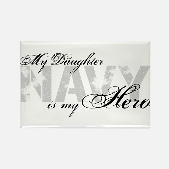 Daughter is my Hero NAVY Rectangle Magnet