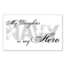 Daughter is my Hero NAVY Rectangle Decal