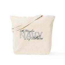 Daughter is my Hero NAVY Tote Bag