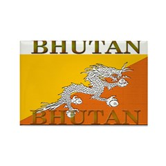 Bhutan Flag Rectangle Magnet (10 pack)