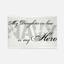 Daughter-in-law is my Hero NAVY Rectangle Magnet