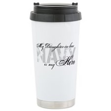 Daughter-in-law is my Hero NAVY Travel Mug
