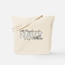 Daughter-in-law is my Hero NAVY Tote Bag
