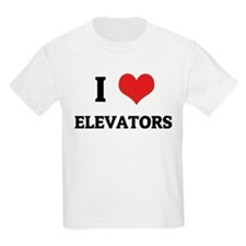 I Love Elevators Kids T-Shirt
