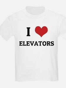 I Love Elevators Kids T-Shirt