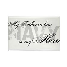 Father-in-law is my Hero NAVY Rectangle Magnet
