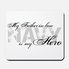 Father-in-law is my Hero NAVY Mousepad