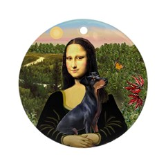 Mona Lisa & Manchester Terrier Keepsake (Round)