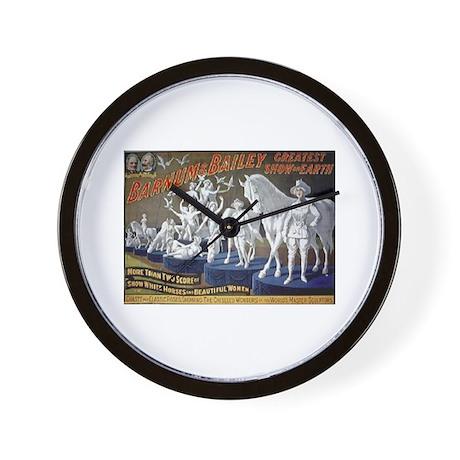 Snow White Horses Wall Clock