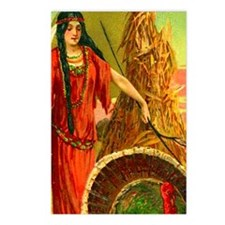 Thanksgiving Indian Maiden Postcards 8pk