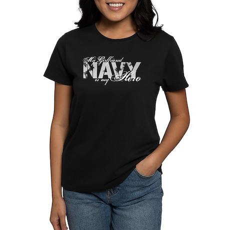 Girlfriend is my Hero NAVY Women's Dark T-Shirt