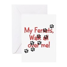 Walk all over me Greeting Cards (Pk of 10)