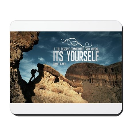 Inspirational Quote on a Mousepad