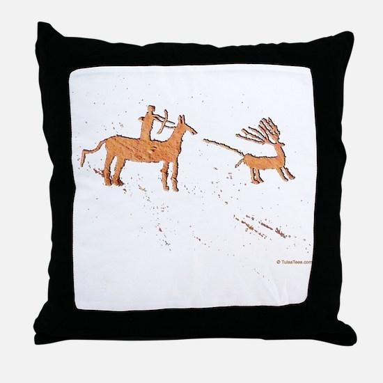 Petroglyph Hunter Throw Pillow