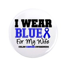 "I Wear Blue Wife 3.5"" Button"