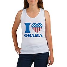 i Love Obama Classic I Heart Women's Tank Top