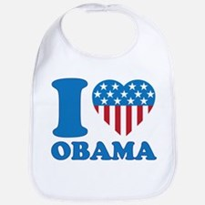 i Love Obama Classic I Heart Bib