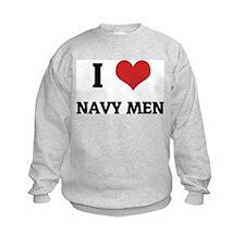 I Love Navy Men Sweatshirt