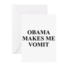 Obama makes Me Vomit Greeting Cards (Pk of 10)