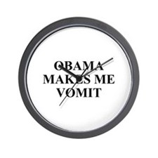 Obama makes Me Vomit Wall Clock