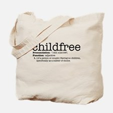 Define Childfree Tote Bag