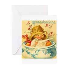 Thanksgiving Child Hostess Gift Greeting Card