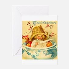 Thanksgiving Child Hostess Gift Greeting Card