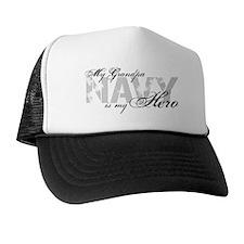 Grandpa is my Hero NAVY Trucker Hat